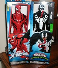 marvel titan hero series lot with carnage & venom 12 inch action figures NEW