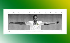 CRICKET MITCHELL JOHNSON UNFRAMED INTIMIDATOR LITHOGRAPH PRINT UN SIGNED WINGS