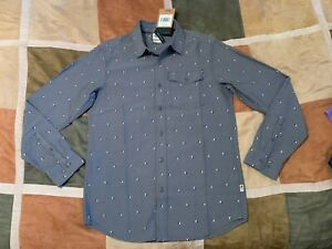 The North Face pine tree long sleeve northwatch button up shirt S mens NEW