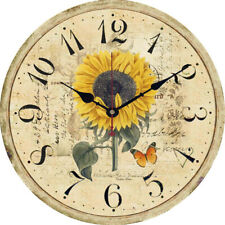 Wall Clock Round Silent Non Ticking Quartz Battery Operated Home Decor Simple