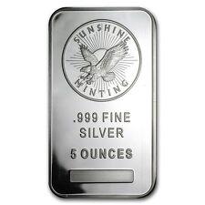 USA 5 oz 155,5 Gramm 999 Silber Silberbarren Sunshine Minting Bullion Geldanlage