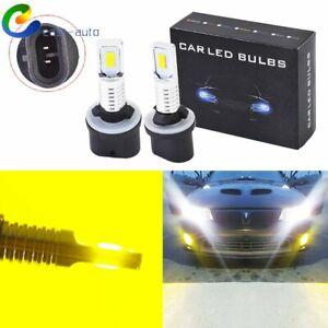 885 891 893 899 880 LED Fog Lights Conversion Bulbs Kit 35W 4000LM 3000K Yellow