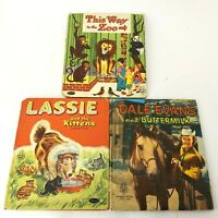 Vintage Whitman Books Lot of 3 Lassie, Dale Evans, This way to the Zoo