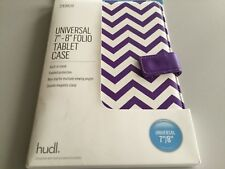 "Tesco Universal 7/8"" Tablet Case  - purple & White Design BNIB"