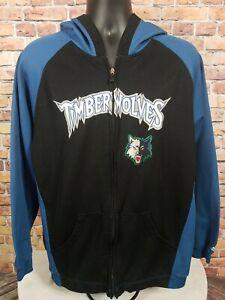 Adidas Minnesota Timberwolves NBA Basketball Hooded Sweatshirt Mens Size Large