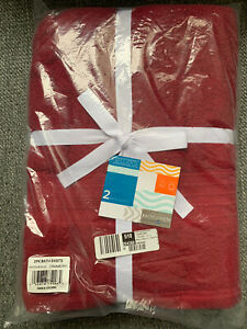 Baltic Linen Bellados 2 pack Bath sheets - Cranberry