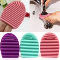 1pc Silicone Makeup Cleaning Egg Brush Cosmetic Brush Cleanser Beauty Maker Tool