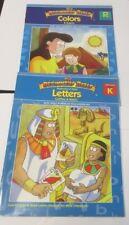 2 BEGINNER'S BIBLE BOOKS - COLORS & SHAPES & LETTERS (PRESCHOOL RELIGIOUS)