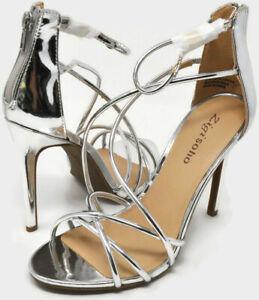 Zigi Soho Women's Blaker Strappy Open Toe Stilleto High Heel Sandals US 7.5 NEW