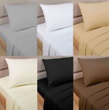1000 TC Egyptian Cotton Deep Pocket British Bedding Items King Size Solid Color