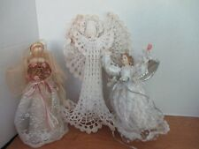 Lot of 3 Table Top Angel Christmas Decorations