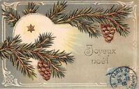 Carte Fantaisie Joyeux noël pomme de pin