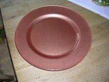 Platzteller/Teller, Platte - rund - terracottafarben - Glas - Durchmesser ca. 36