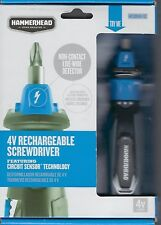 HAMMERHEAD 4V RECHARGEABLE SCREWDRIVER WITH CIRCUIT SENSOR HCSD040-02 NEW IN BOX