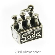 925 Sterling Silver 6 pack of Soda Charm Made in USA