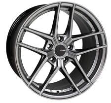 18x8 Enkei TY5 5x108 +40 Hyper Silver Rims Fits Focus Svt Escort