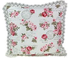 Pillow Case 40 cm x 40 cm Romance Sunderland Cottage Roses Lace Pillowcase