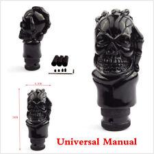 Universal Car Auto Skull Head Shift Gear Knob Manual Stick Shifter Black Lever