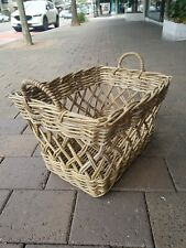 French provincial Hamptons carry basket laundry basket hamper 2 styles