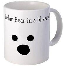 11oz mug Polar Bear in a blizzard