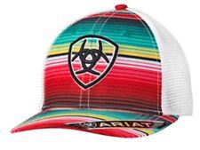 Ariat Womens Baseball Hat Cap Hook & Loop Multi Color Stripes 1515997