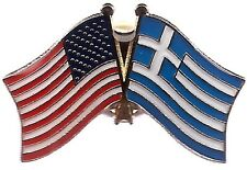 Lot Of 3 Greece Friendship Flag Lapel Pins - Greek Crossed Flag Pin