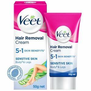 Veet Silk & Fresh Hair Removal Cream, Sensitive Skin - 50 g