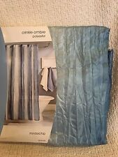 """NEW Home Crinkle Ombre Fabric Shower Curtain, Multi Blues ~ 70' x 70"""""""