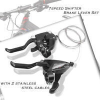 Set EF500-7 3x7 Speeds Brake Levers & Shifters Levers for SHIMANO Bike Black