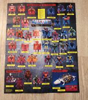 "1985 Mattel Masters Of The Universe He-Man MOTU checklist Poster 21x16.5"""