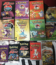 Empty Vintage Theme Decks, Booster Packs,stickers,coins And Other Pokemon Misc.