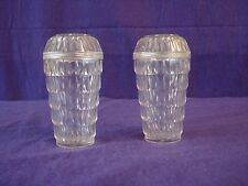 Vintage Clear Lucite Tiered Diamond Cuts Salt and Pepper Shakers Arrow       54