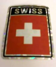 """3x4"" Swiss Stickers / Switzerland Flag Decal"
