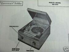PHILCO 48-1253 PHONOGRAPH RADIO COMBO PHOTOFACT