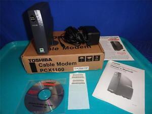 NEW Tosihiba DOCSIS Cable Modem PCX1100 DAZ8811F     M22