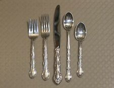 French Scroll by Alvin Sterling Silver Flatware Set 8 - 5 pc Place Settings Plus