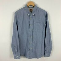 Levis Mens Button Up Shirt Medium Blue Long Sleeve Collared Slim Fit