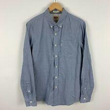 Levis Mens Button Up Shirt Medium Blue Long Sleeve Collared Slim Fit