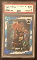 2017-18 Donruss Optic SHOCK John Collins Rookie Basketball Card #182 PSA 9