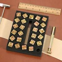 26pcs Steel Printing Punch Alphabet Letter Stamp Set Metal Leather Tools Gold