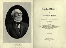1912 HOUSTON Texas TX, History & Genealogy Ancestry Family Tree DVD CD B17