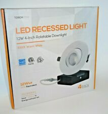 TORCHSTAR 4 Inch 12W Gimbal LED Recessed Lighting with Junction-Box, 90W Eqv. ET