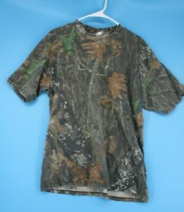 Jerzees Outdoors Mens Large T-Shirt Camo Hunting Outdoor Crew Neck Short Sleeve