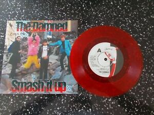 """THE DAMNED * SMASH IT UP * RARE RED 7"""" VINYL * CHISWICK * PUNK * Mint!"""