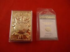 Togepi Pokemon Special Edition 23 karat Gold Plated Trading Card w/ COA