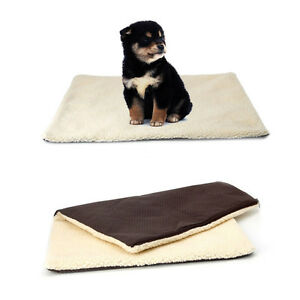 Super Soft Self Heating Cat Dog Pet Bed Cushion Rug Mattress Thermal Warm Fleece