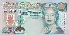 P29 Gibilterra 2000 Cinque sterline banconote in ottime condizioni Crisp