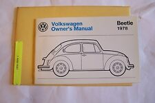 1978 vw beetle type 1 Owners Manual Parts Service new original