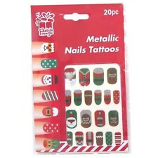 20 x Assorted Temporary Transfer Decal Nail Tattoos Art Paint Christmas Party
