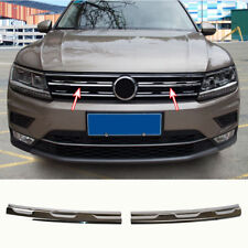 For 16- VW Tiguan Mk2 Chrome Front Mesh Grill Grille Cover Bonnet Trim Molding